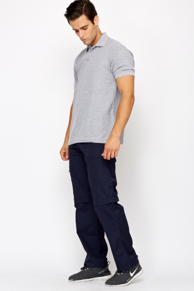 Detachable Leg Navy Trousers