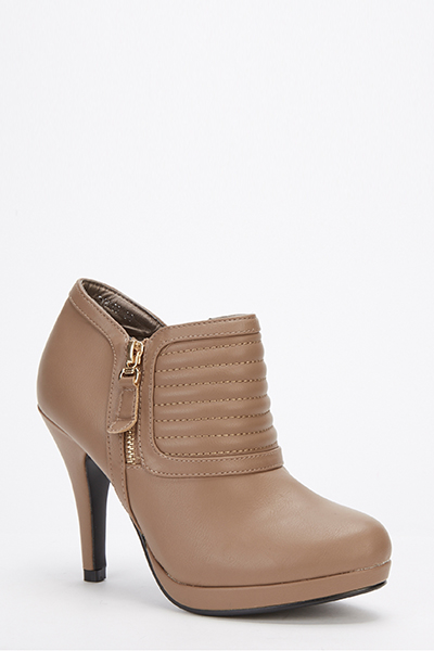 Padded Front Double Zip Heeled Boots Just 163 5