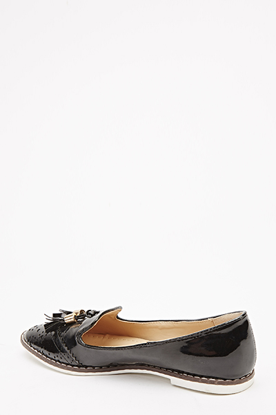 Patent Pointed Loafers