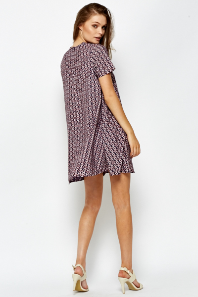 Zip Back A-Line Dress