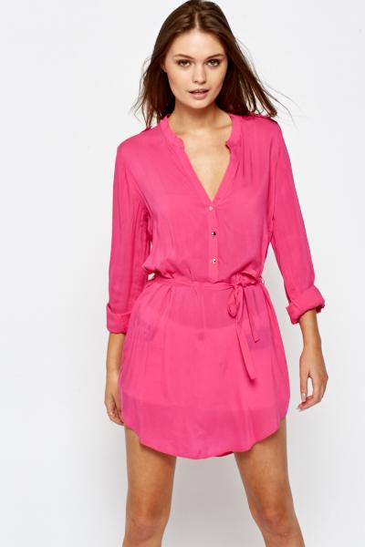 d899d843178 Fuchsia Shirt Dress - Just £5