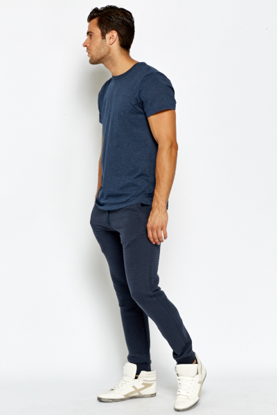 Middle Blue Casual Joggers