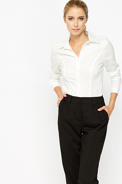 Fitted White Shirt - Just £5