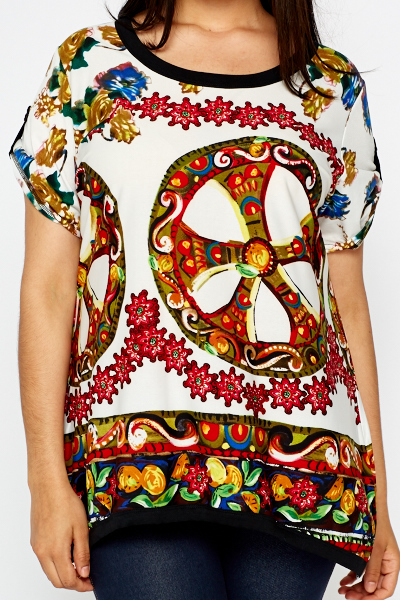 Mix Ornate Print Tunic