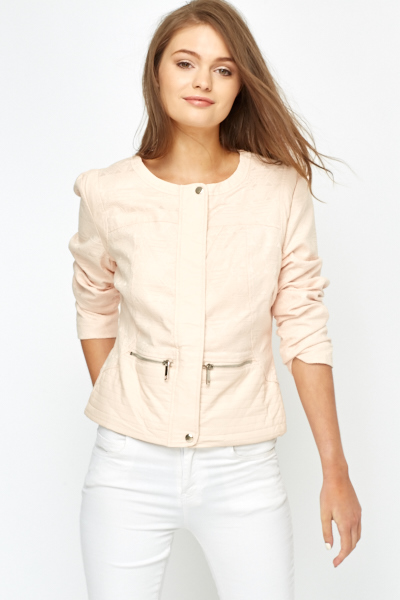 Textured Aztec Light Pink Jacket - Just £5