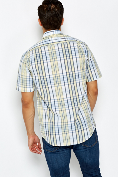 Yellow Multi Checked Shirt