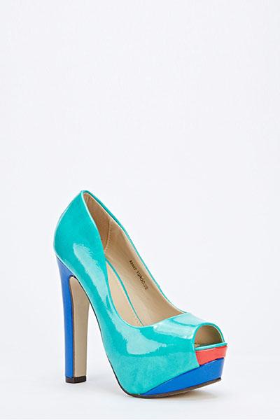 91cc1386d612 Patent PVC Open Toe Platform Heels - Just £5