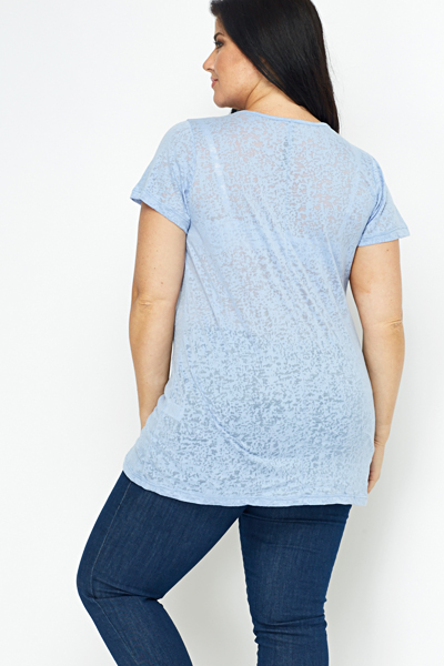 V-Neck Burn Out Top