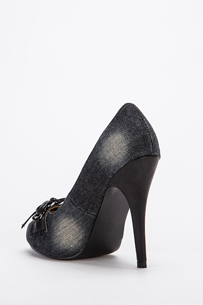 Bow Front Denim Court Shoes Just 163 5