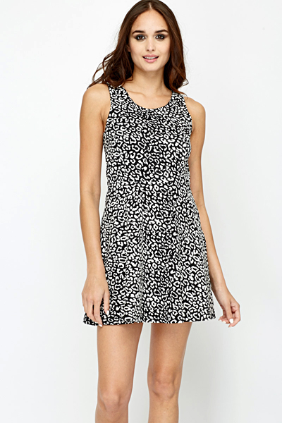 6685aa4d182 Contrast Leopard Print Swing Dress - Just £5
