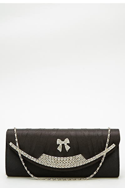 Encrusted Bow Clutch Bag