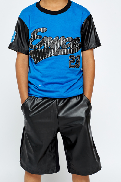 Boys Baseball Top And Shorts Set