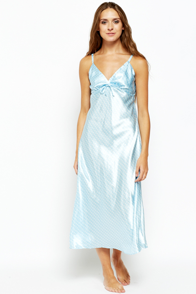 Sky Blue Spotty Night Gown