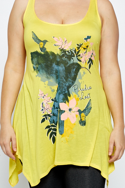 Yellow Paradise Print Top