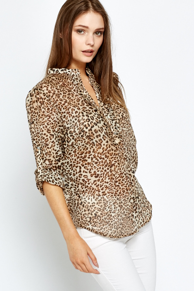 Casual Leopard Print Blouse Just 163 5