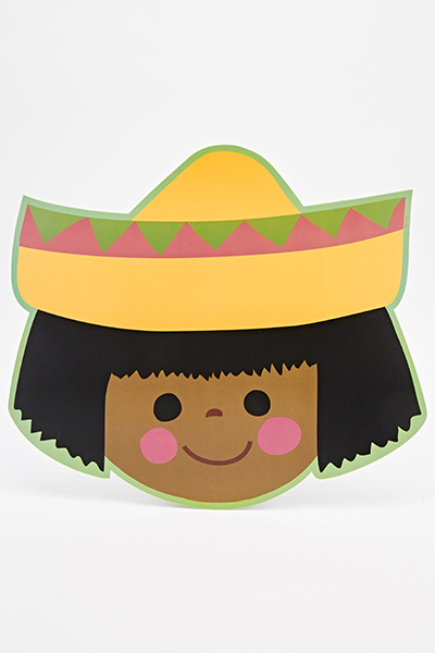 Its A Small World Mexican Girl Placemat