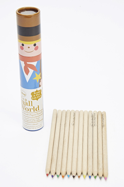 Its A Small World Recycled Kraft Paper Pencils