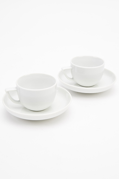 Two Demi Cups And Saucers