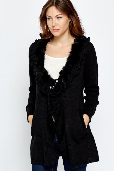Black Wool Pom Pom Cardigan - Just £5 8ef835f4d