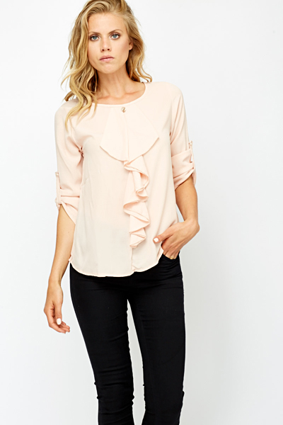 Ruffled Front Blouse Just 5