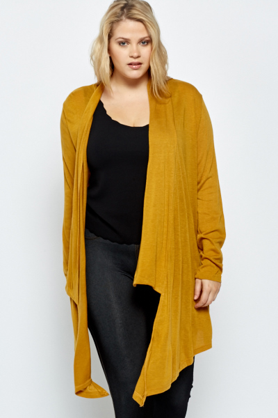 Mustard Waterfall Cardigan - Just £5