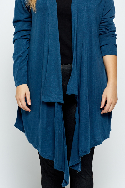 Dark Blue Waterfall Cardigan - Just £5