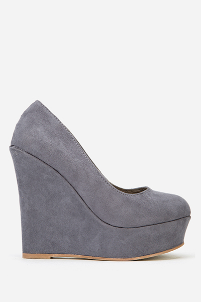 Suedette Wedges