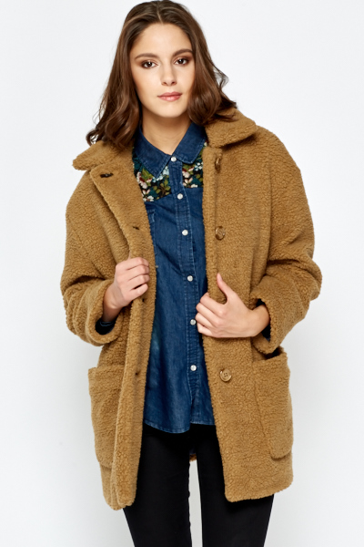 Faux Fur Teddy Coat Just 163 5