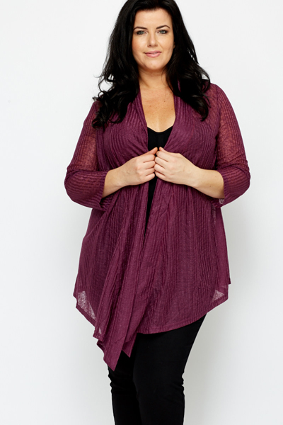 Purple Waterfall Cardigan - Just £5