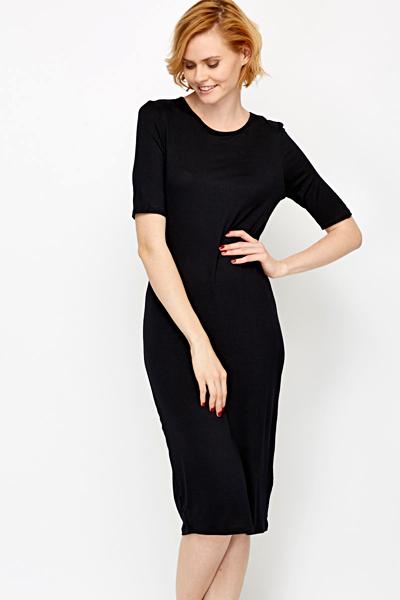 a99fc366616c Black Midi Bodycon Dress - Just £5
