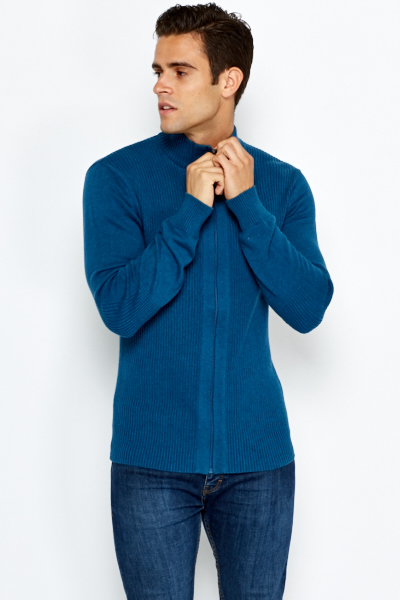 High Neck Zip Up Up Jumper