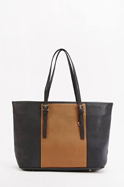 Brown Panel Tote Bag - Just £5