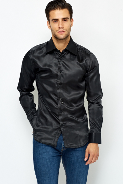 Silky Button Up Shirt