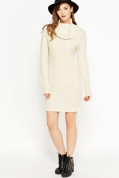 a6a790eb19 Off White Metallic Jumper Dress - Just £5