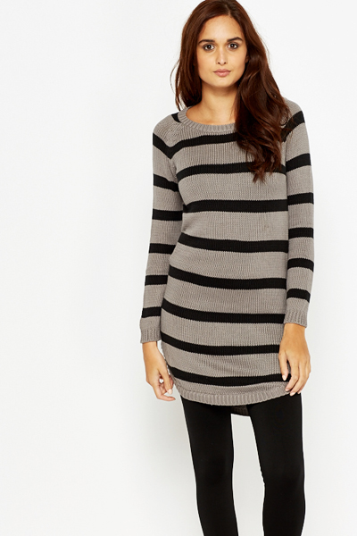 Long Mono Striped Jumper