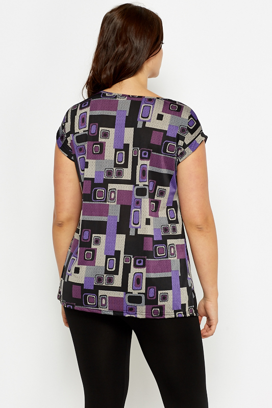 Geo Ruched Side Top