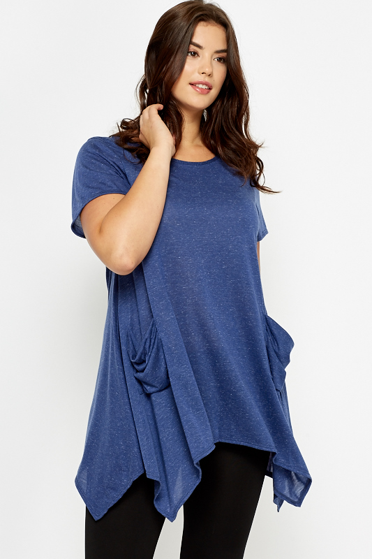 Middle Blue Casual Tunic