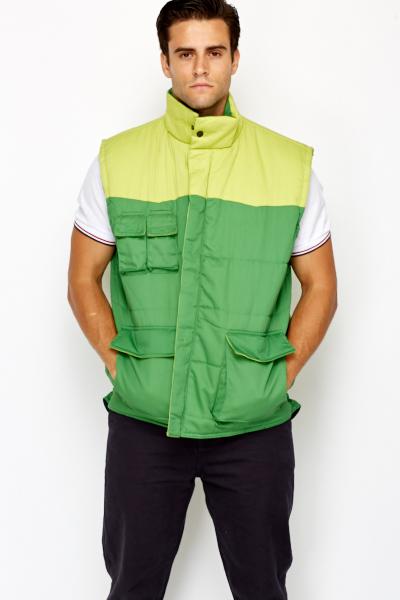 Padded Sleeveless Work Jacket