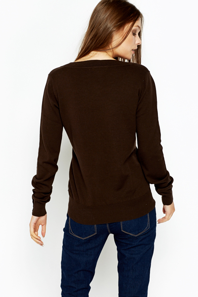 Round Neck Casual Pullover