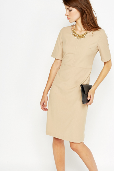 Beige Formal Dress