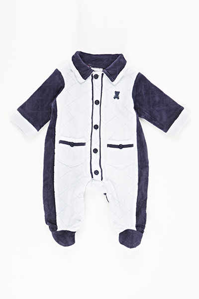 Quilted Collar Baby Grow