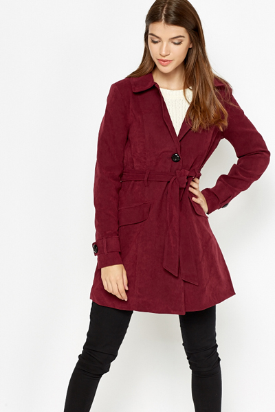 Button Up Violet Coat
