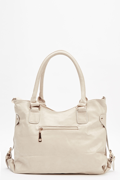 Curved Pocket Front Handbag