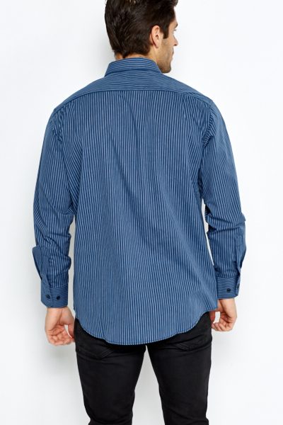 Middle Blue Pinstripe Shirt