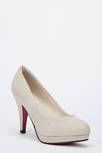 Suedette Court Shoes