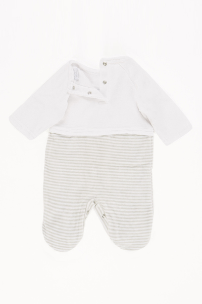 Teddy Bear Striped Baby Grow