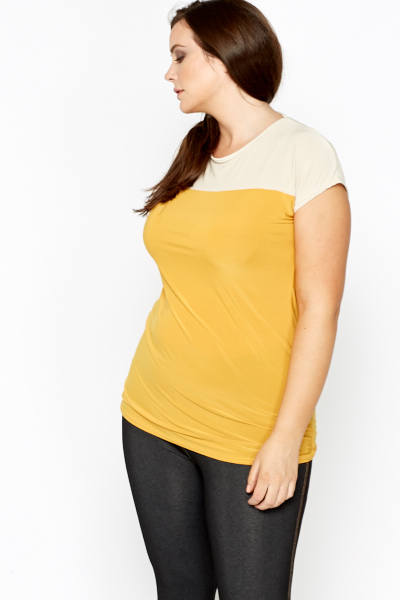 Yellow Contrast Panel Top