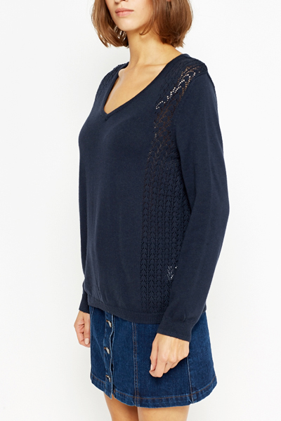 Cut Out Side Panel Pullover