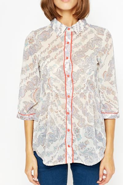 Paisley Button Up Shirt