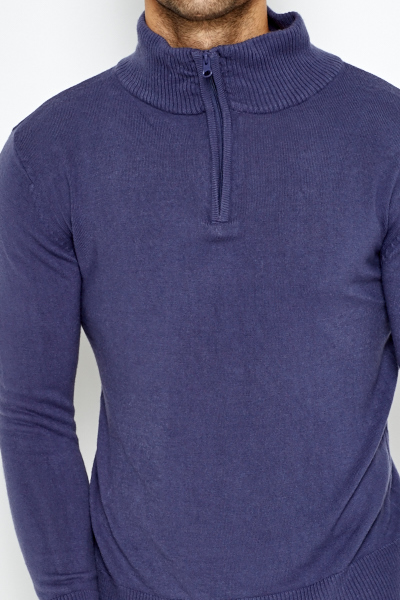 Zipped Neck Pullover